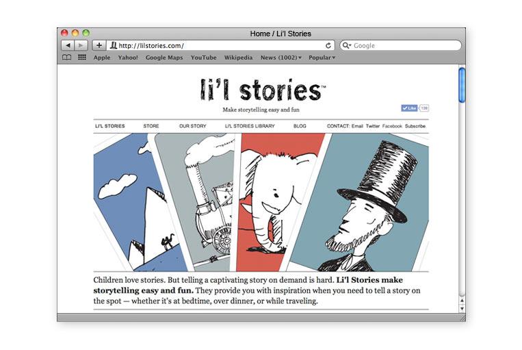 Li'l Stories website